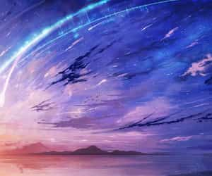 anime, blue, and movie image