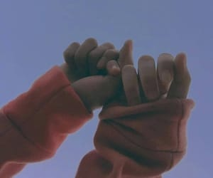 couple, hands, and sky image