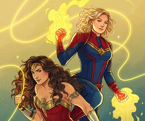 Marvel, wonder woman, and dc comics image