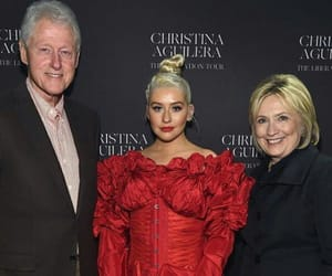 bill clinton, music, and red image
