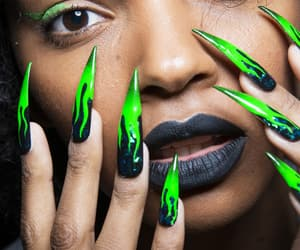 green, lime, and nails image