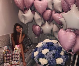 balloons, hydrangeas, and luxury image