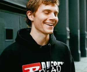 evan peters, happy, and smile image