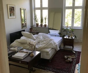 apartment, interior, and bed image