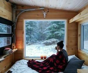 Dream, snow, and window image