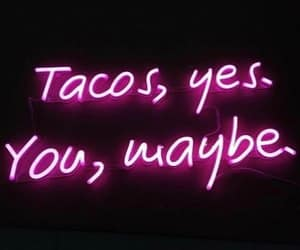 food, neon, and pink image