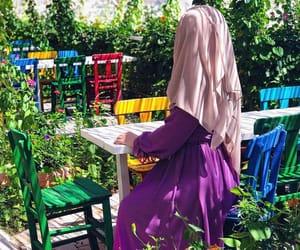 colourful, hijab, and nature image