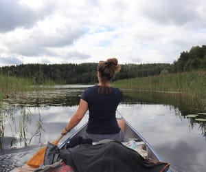 canoe, sweden, and canoeing image