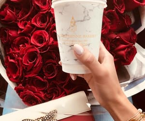 rose, coffee, and luxury image