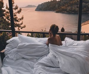 bed, girl, and relax image