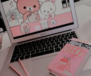 aesthetic, pink, and edit image