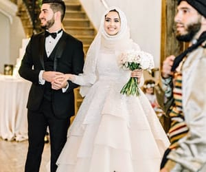 couple, dress, and hijab image
