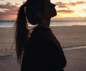 beach, girl, and photo image