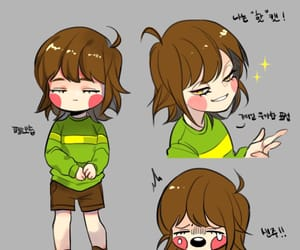 chara, undertale, and chara lie-swaptale image