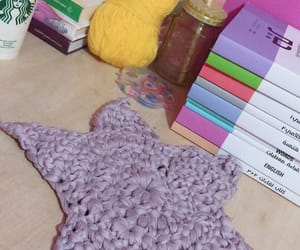 books, crochet, and tumblr image