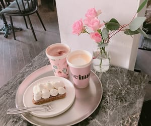 beauty, coffee, and flowers image