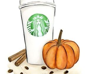 fall, starbucks, and pumpkin image