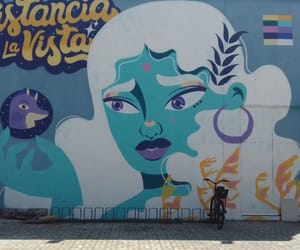 art, blue, and grafite image