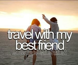travel, best friends, and summer image