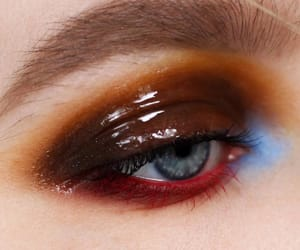 blue, brown, and makeup image