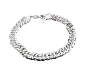 bracelet, curb chain, and stainless steel image