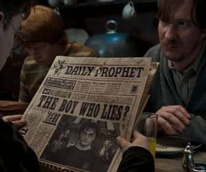 film, harry potter, and newspaper image