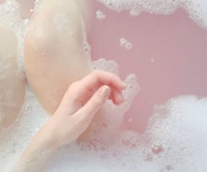 pink, pale, and water image