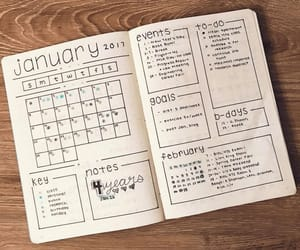 journal, planner, and bujo image