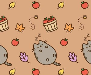 autumn, wallpaper, and pusheen image