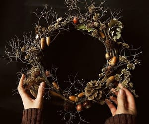 autumn, branches, and wreath image