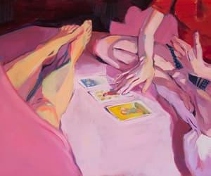 art, pink, and tarot image