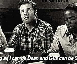 gif, gus, and shawn spencer image