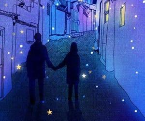 love, stars, and purple image