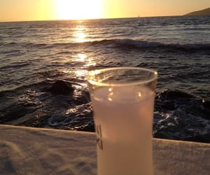 drink, drinks, and sea image