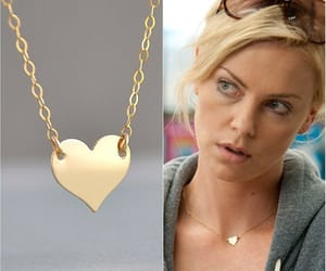 etsy, gold heart necklace, and 14k gold fill image