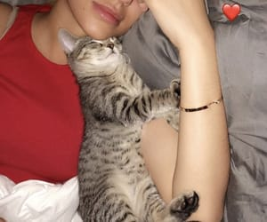 girl with cat, baddie, and fatherkels image