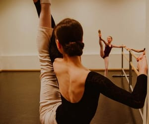 ballerina, rehearsal, and barre image