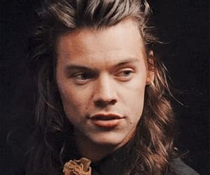 long hair, Harry Styles, and one direction image