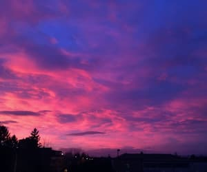pink, sky, and sunrise image