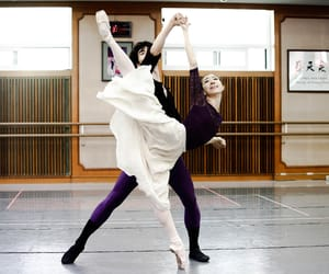 ballerina, ballet, and couple image