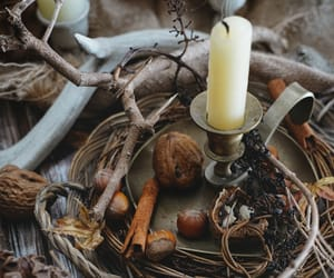 antlers, autumn, and candle image