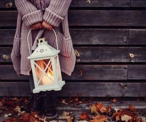 autumn, fall, and lantern image