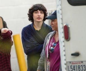 filming, finnwolfhard, and calpurnia image