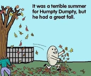 autumn, funny, and humpty dumpty image