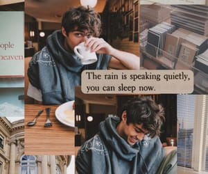 noah centineo, boy, and coffee image