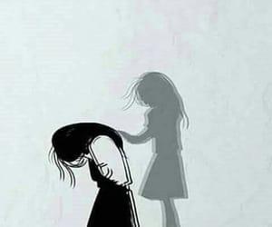 art, alone, and sad image