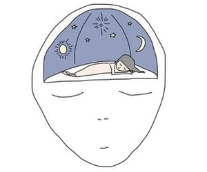 moon, sleep, and stars image