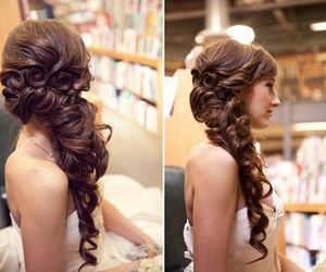 beautiful, girly, and hair do image