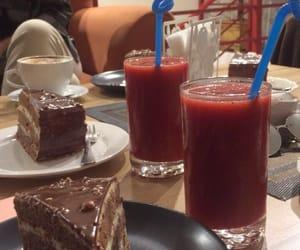 cafe, chocolate, and chocolate cake image