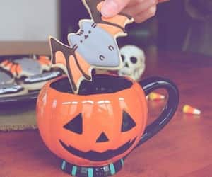 Halloween, cookie, and mug image